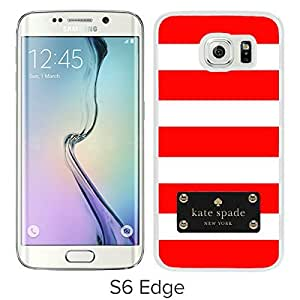 Fashionable And Unique Designed Kate Spade Cover Case For Samsung Galaxy S6 Edge White Phone Case 117