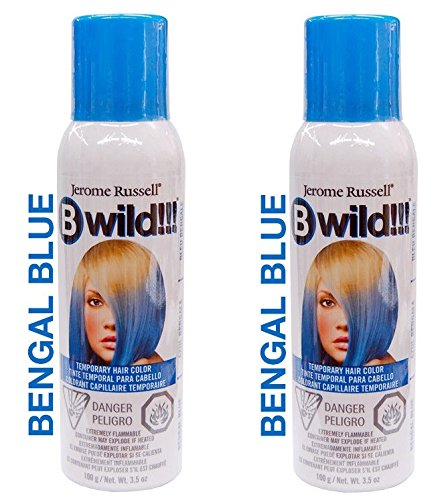 Jerome Russell B Wild Temporary Hair Color Spray 3.5oz (Set of 2, Bengal Blue)]()