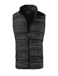 Zity Men's Winter Plus Size Padded Vest Warm Outwear