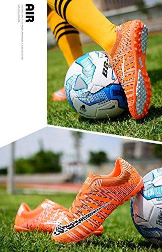 Jiye Menn Fotballsko For Kvinner Torv Sko Innendørs Kryss Trening Av Oransje