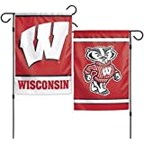 NCAA University Wisconsin Badgers 12x18 Inch 2-Sided Outdoor Garden Flag