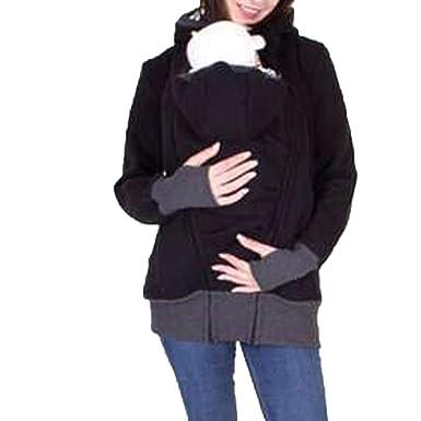 Teamoluna Womens Maternity Kangaroo Hooded Sweatshirt for Baby Carriers  (US 6de7c05fc8