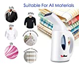 YOMBAND Handheld Garment Fabric Steamer for Travel Clothes and Home, 140ml Capacity with Fast 2 Minutes Heat-up