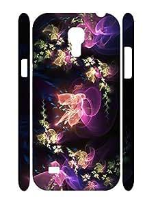 Elegant Neon Flowers Design Durable Plastic Phone Skin Case for Samsung Galaxy S4 Mini I9195