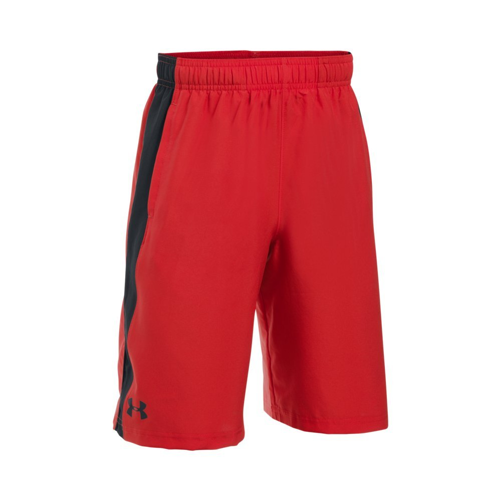 Under Armour Boys' Impulse Woven Shorts, Red (600)/Black, Youth Medium