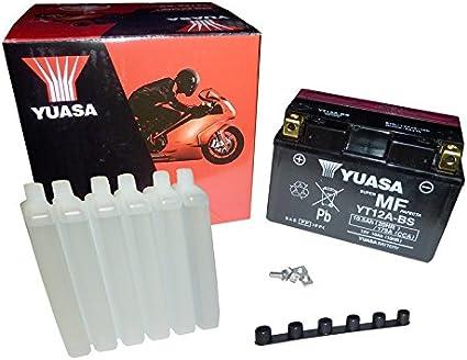 YUASA BATERIA YT12A-BS AGM abierto - con paquete de ácido
