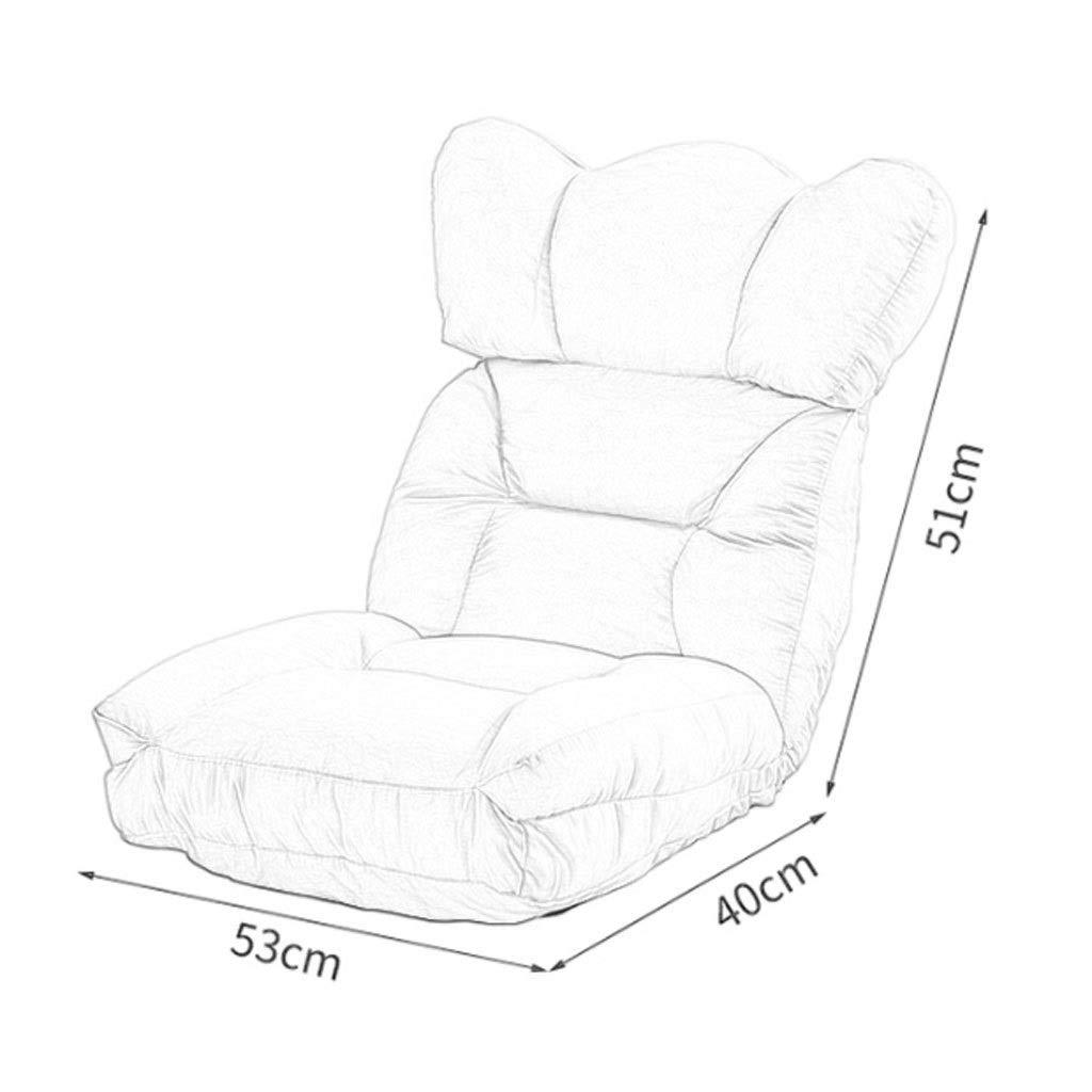 ZXL Adjustable Position Memory Foam golvstol – vadderad spelstol – bekvämt ryggstöd – vippa – utmärkt för läsning av meditationslekar – helt byggd spelstol E