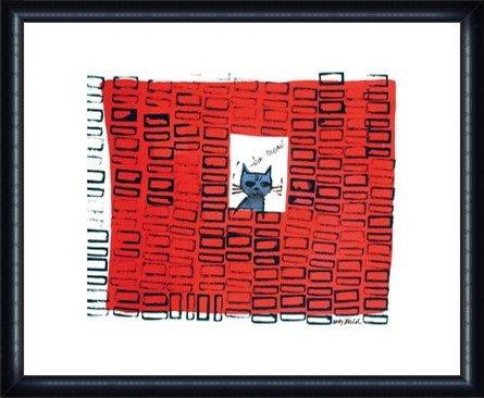 ポスター アンディ ウォーホル So Meow、 c. 1958 額装品 ウッドハイグレードフレーム(ネイビー) B00LCTLE9E ネイビー ネイビー