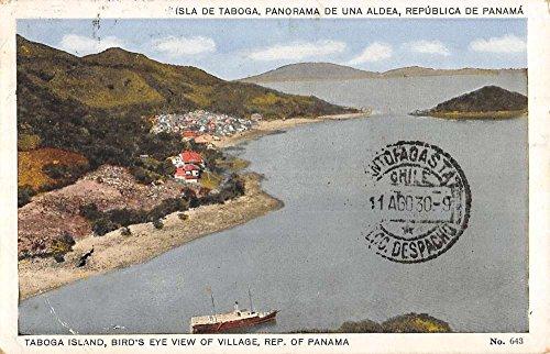 Postcard Birdseye View (Taboga Island Panama Birdseye View Of City Antique Postcard K72100)