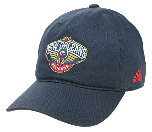 - adidas NBA Girl's New Orleans Pelicans Basic Slouch Adjustable Cap, Navy One Size (7-16)