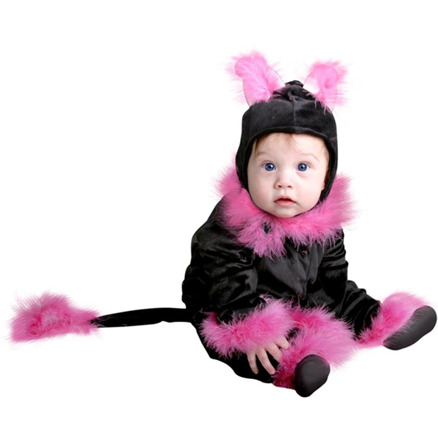amazoncom baby girl pink cat infant halloween costume 6 18 months clothing - Halloween Costume For Baby Girls