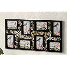MQDBS@ 8 Frames Solid Wood Family Photo Frame For Picture Wall Hanging Combination Photo Home Room Decor ,, Perfect Photo Frame for Family Pictures,ollage and Multiple Opening Frames Black , White , Black