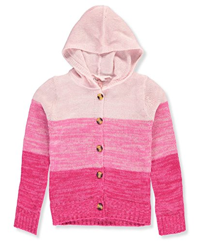 Pink Angel Big Girls' Hooded Cardigan - Pink/Multi, - Girls Hooded Cardigan