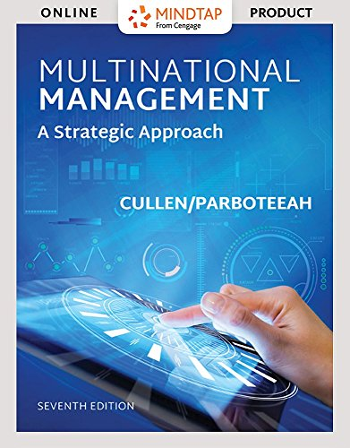 MindTap Management for Cullen/Parboteeah's Multinational Management, 7th Edition by Cengage Learning