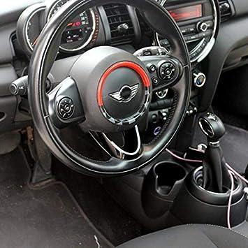Autocollant de d/écoration de Volant en Plastique ABS pour Mini Cooper F54 Clubman F55 Hardtop F56 Hatchback F57 Covertible F60 Countryman