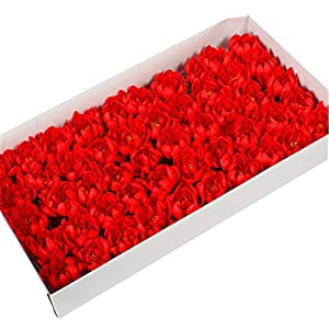 Artificial Flowers 50Pcs/Set Soap Asters Flowers Head Artificial Flowers for Home Wedding Party Decoration Ball Craft Fake Flowers,C6 4