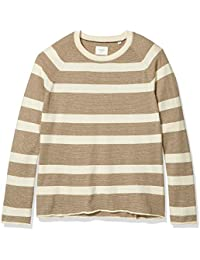 Men's Long Sleeve Block Feeder Stripe Crew Neck Sweater