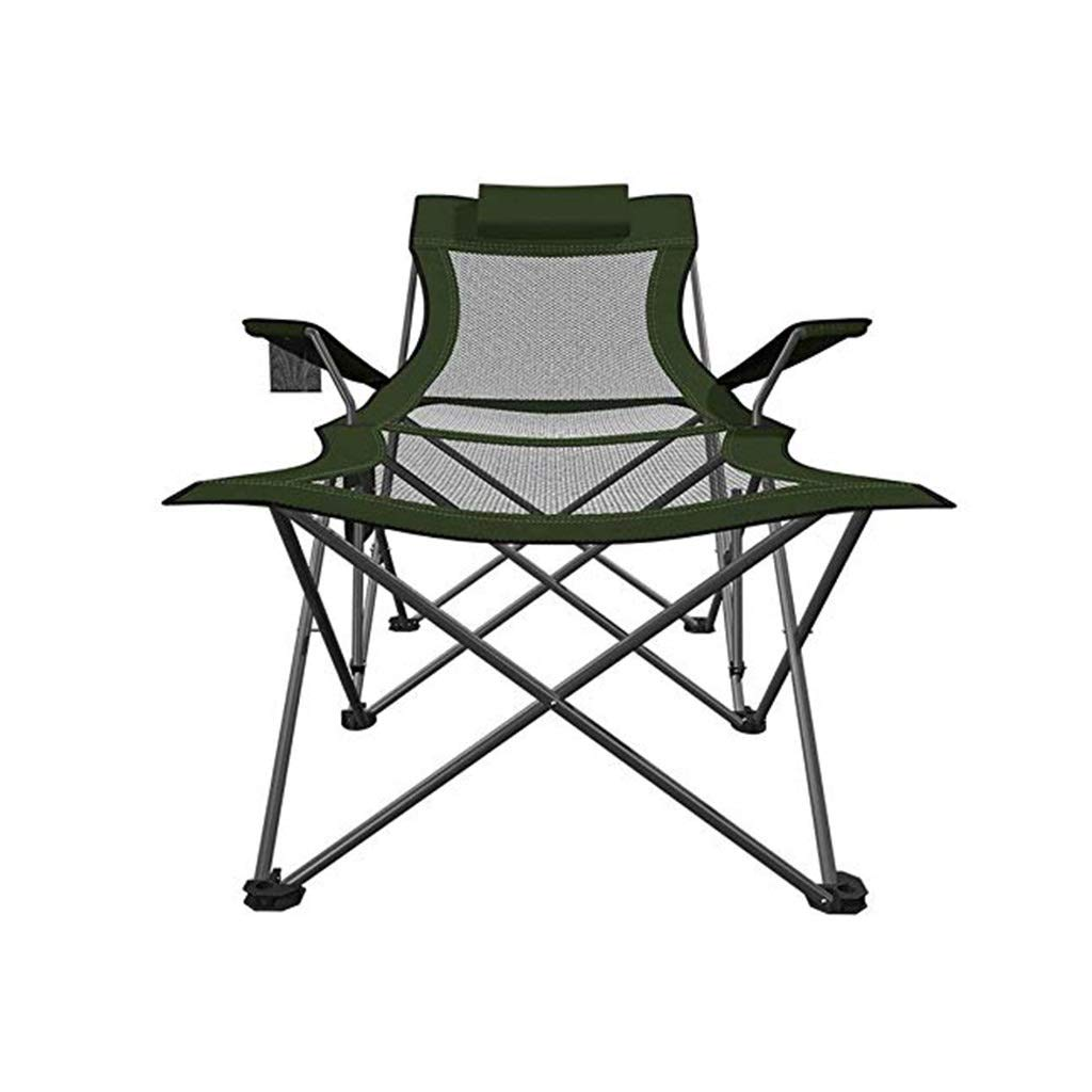 YYTLTY Camping Chairs Green Lightweight with Cup Holder and Side Pocket, Folding Portable Outdoor Fishing Chair, Max Load 100kg by YYTLTY