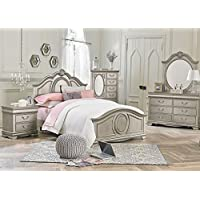 Jessica Silver 5 Pc. Full Bedroom Furniture Set