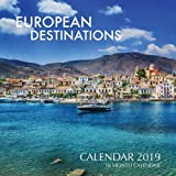 European Destinations Calendar 2019: 16 Month Calendar