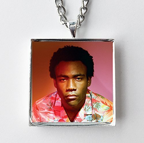 c0d7a234b Image Unavailable. Image not available for. Color: Album Cover Art Necklace  - Childish Gambino - Because the Internet