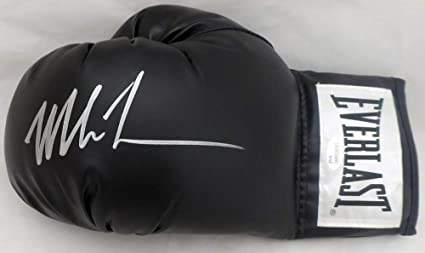 12eb5938702 Image Unavailable. Image not available for. Color  Mike Tyson Signed Auto  Black Everlast Boxing Glove LH Signed In Silver - JSA Authentic