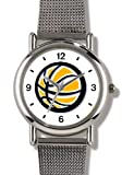 Basketball - Basketball Theme - WATCHBUDDY ELITE Chrome-Plated Metal Alloy Watch with Metal Mesh Strap-Size-Small ( Standard Women's Size )