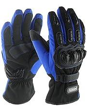 madbike motorcycle gloves waterproof moto gloves motorcycle winter (blue-XL)