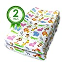 Bonafide Baby Changing Pad Cover 2 Pk Jungle Animals Print