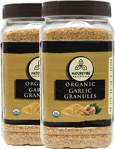 Naturevibe Botanicals Organic Garlic Granules, 2lbs (2 Pack of 1 lb each)