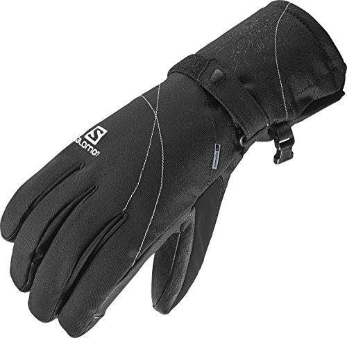 Salomon, Damen wasserdichte Frontside-Ski-Handschuhe (schlank), Touchscreen kompatibel, Leder-Innenhand für Grip, PROPELLER DRY W, Größe: M, Schwarz, L36337600
