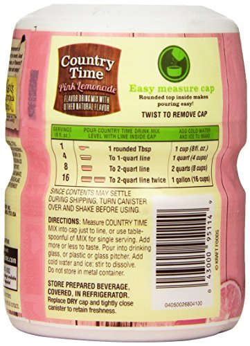 Amazon Country Time Flavored Drink Mix Pink Lemonade 19 Ounce