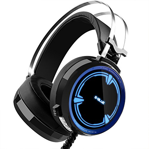 51AXxPqNCpL - Backever Stereo Gaming Headset, 3.5mm Wired Noise Isolation Over Ear Headphones with Mic and LED Lights for PS4 PSP Laptop PC Mac iPad Computer Smartphones