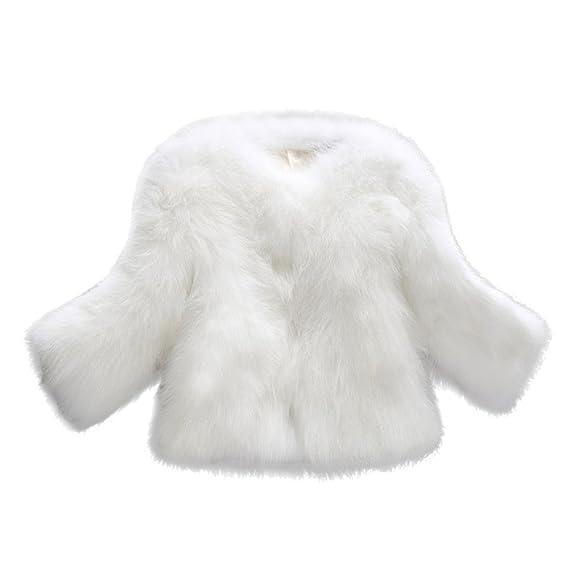 OverDose Abrigos de Mujer Elegantes Abrigo Suave y Esponjoso de Piel sintética XS/S/
