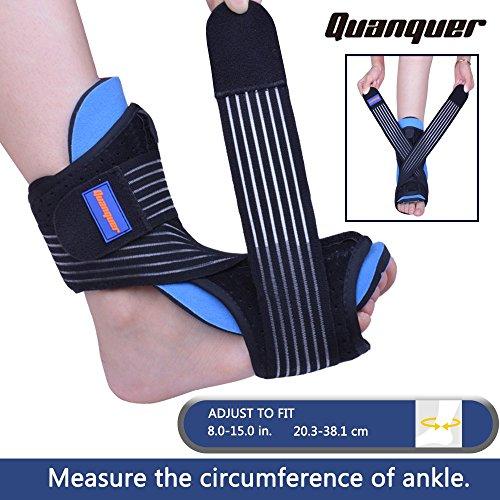 1bd5e0035a77 Plantar Fasciitis Night Splint Foot Drop Orthotic Brace for Sleep Support- Adjustable  Dorsal Night Splint