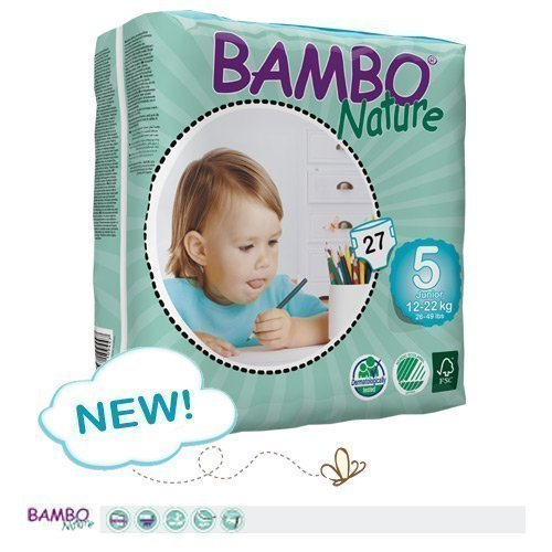 Bambo Nature Premium Baby Diapers, Junior, Size 5