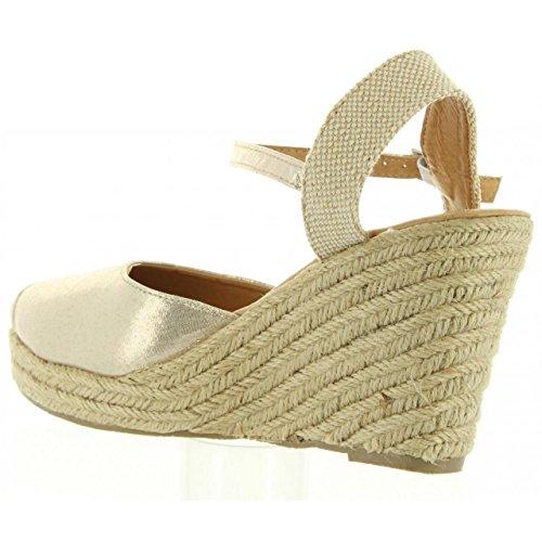 Zapatos de cuña de Mujer URBAN B732593-B7200 GOLD