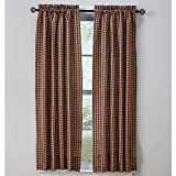 Town and Country Wine Curtain Panels