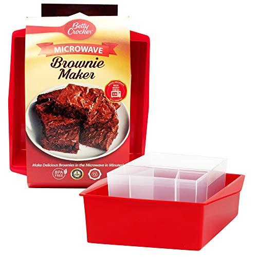 Betty Crocker BCB-3001 Microwave Brownie Maker, Plastic, Red