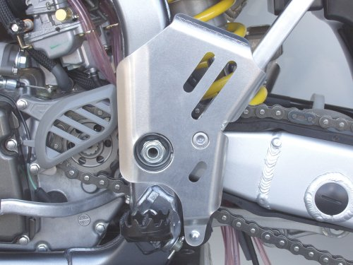 Works Connection Frame Guards Aluminum for Honda CR500R CR250 (Works Frame Connection Guards Aluminum)