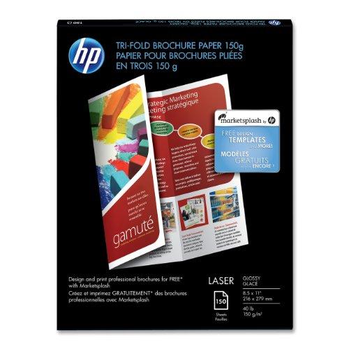 hp tri fold brochure template hp tri fold color laser glossy brochure paper 150 sheets