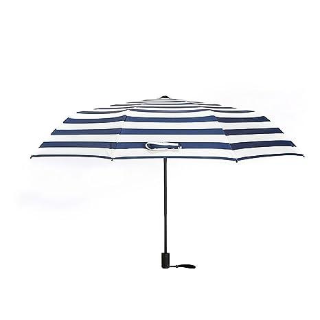 GYB paraguas Sombrilla paraguas a prueba de viento Quick To Carry Protección UV Mujeres plegables para