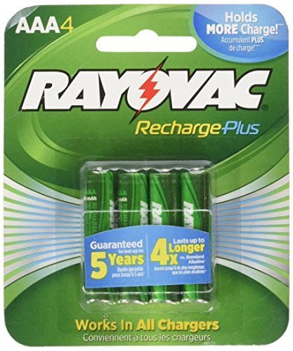 Rayovac Rechargeable Nimh Aa Batteries (RAYOVAC AAA 4-Pack RECHARGEABLE PLUS Batteries, PL724-4 GENE)