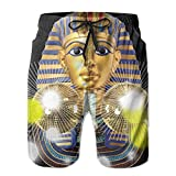 Golden Mask Of Egyptian Disco Ball Men's Tropical Quick Dry Board Shorts Bathing Suits Swimwear Volley Beach Trunks