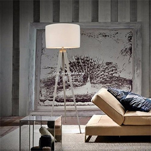Kreative, moderne, minimalistische Leuchte 3 Gabel Stoffen Stehleuchte Beleuchtung, weiße Wohnzimmer Schlafzimmer Studie