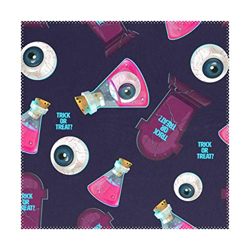 My Little Nest Square Placemats Halloween Eyeballs Bottles Heat Resistant Table Mats Washable Place Mats for Festival Party Kitchen Dining Table 4 -