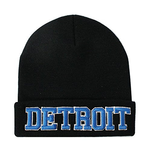 ChoKoLids Classic Cuff Beanie Hat - Black Cuffed Football Winter Skully Hat Knit Toque Cap - Skull Classic Cap