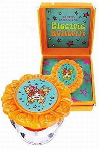 (Tarina Tarantino Cameo Gem Lip Gloss Ring Electric Butterfly Orange)