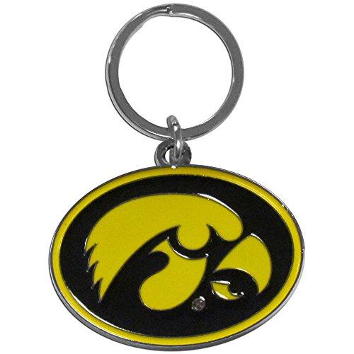 Siskiyou NCAA Iowa Hawkeyes Chrome and Enameled Key Chain - Iowa Hawkeyes Logo Keychain