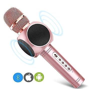 Eray Microphone Sans Fil Karaoké Portable Bluetooth Micro Sans Fil
